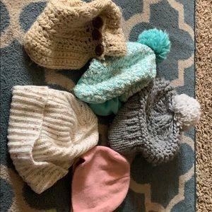 Lot of winter hats